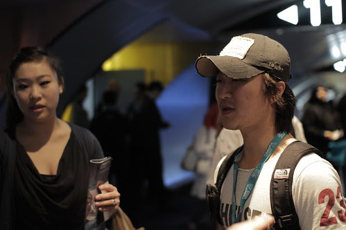 UNFUNNY GAMES director Park Jong-Chul and his interpreter Miki