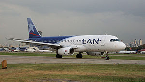 Airbus A320 LV-BFY of LAN Argentina, taxing to...