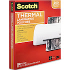 Scotch Thermal Laminating Pouches, Letter Size, Clear - 200 count