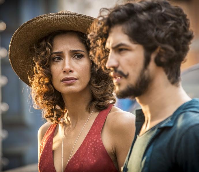 Tereza dirá a Santo que Miguel é fruto do relacionamento dos dois (Foto: Inácio Moraes/ Gshow)