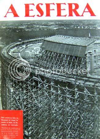 Contracapa do número 34, que apresenta uma «vista parcial do átrio do Congresso no campo do partido do Reich, em Nuremberg». * Image hosted by Photobucket.com