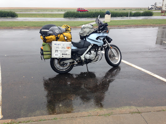 Motorcycling Toward Denver in the Rain - Bryan Cady