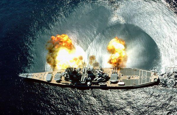 The battleship USS Iowa.