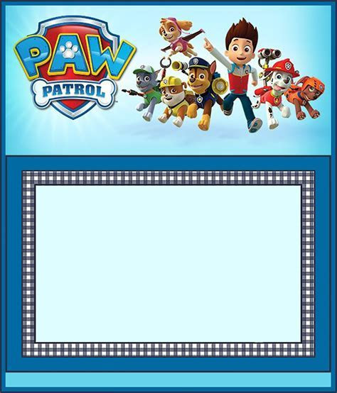 Free Paw Patrol Invitation Template   Invitations Online