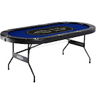 Barrington 10-Player Poker Table, Blue