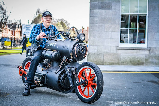 Black Pearl, A Custom Motorcycle Powered by a Steam Engine