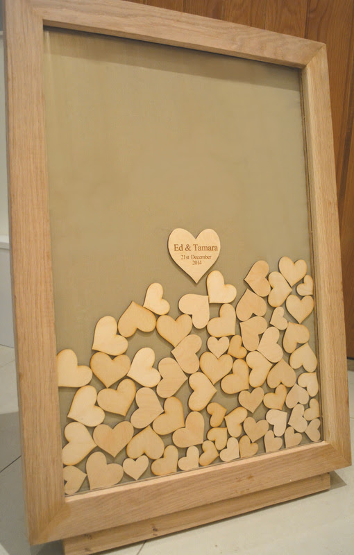 Solid Oak Love Heart Drop Frame Guest Book Nerissa Eve Weddings