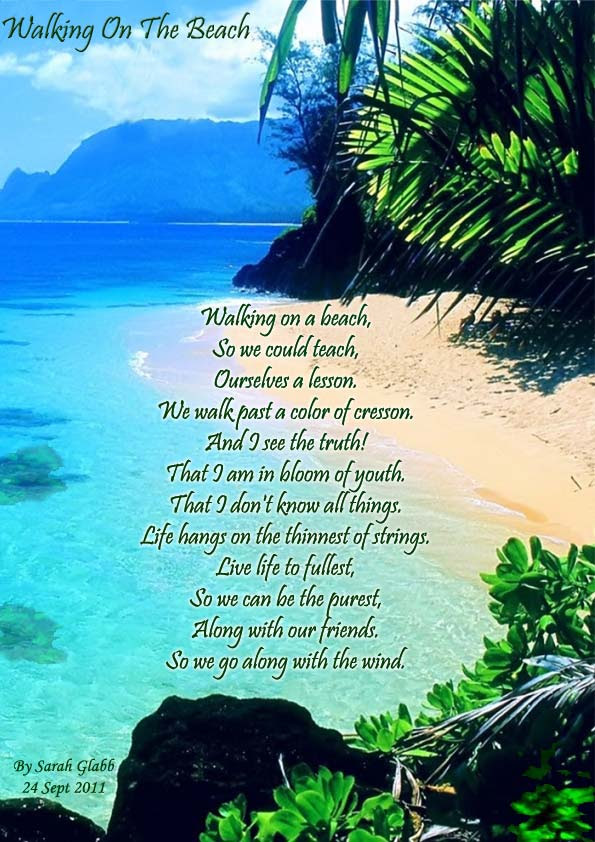 Walking On The Beach Poems About Friendship