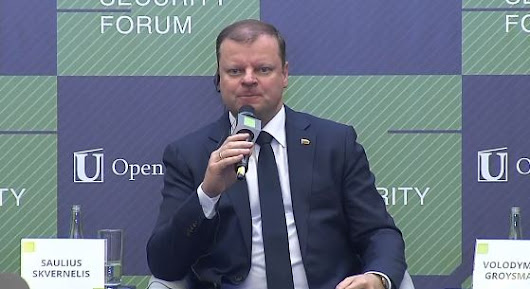 Lithuanian Prime Minister: don't separate the Kremlin and the Russians; this is a mistake -