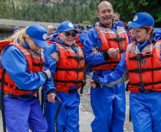 96-year-old grandmother enjoys whitewater rafting on the Thompson River - KamloopsMatters.com