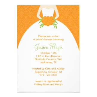 Fall Bridal Shower Invitations Personalized Invites