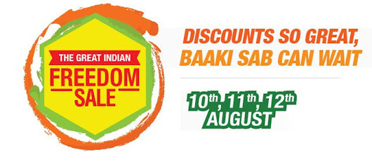 The Great Indian Freedom Sale at Amazon India - Get Cashbacks & Discount (10, 11 & 12 Aug 2015)