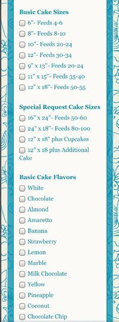 23 best CAKE ORDER FORMS images on Pinterest   Bakery