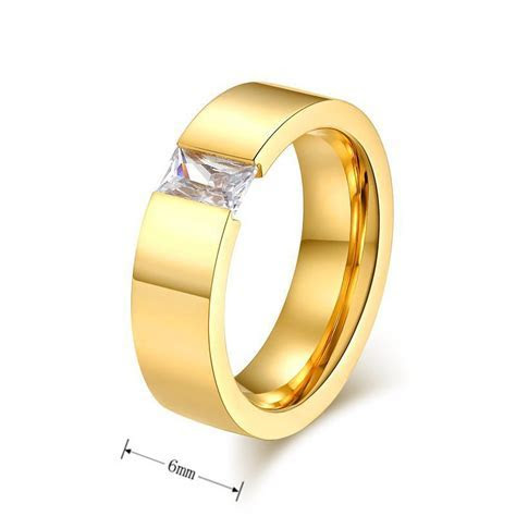gold filled Fashion wedding rings for men and women