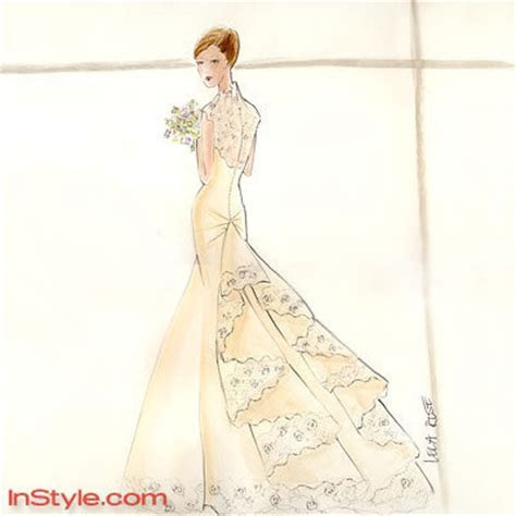 Fashion Designers Sketch Bella's Wedding Dress for InStyle
