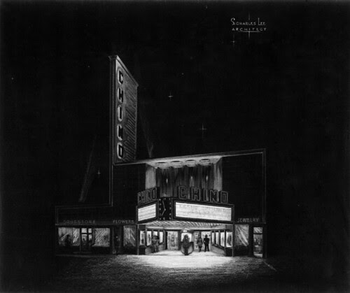 Chino Theatre (at night) sketch