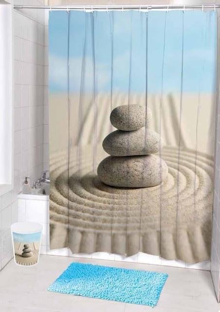 Unique Desert Landscape stones Fabric Shower Curtain - tropical ...