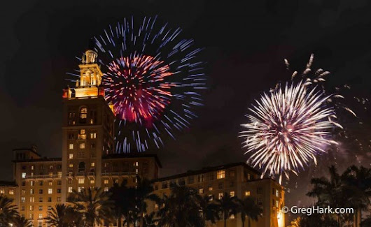 Fireworks at the Biltmore Hotel Coral Gables, Florida  -  Blog - greghark.com