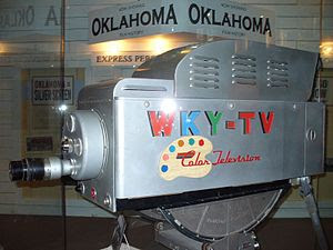 One of the first Color TV cameras at the Oklah...