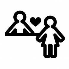 婚活シルエット イラストの無料ダウンロードサイトシルエットac
