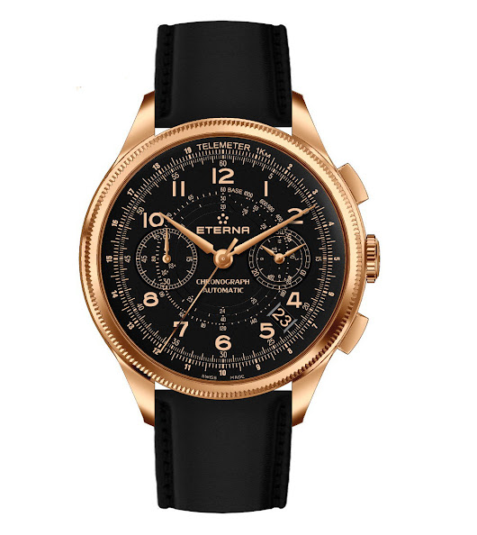 Timeandwatches - Eterna 1948 Chronograph Telemeter Bronze Manufacture
