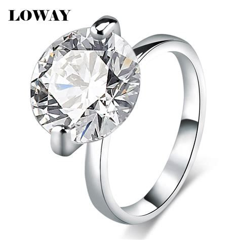 LOWAY Big 10 Carat Proposal Rings for Women Size 10 Cubic