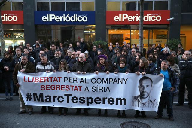 Nueva concentración para reclamar la liberación de Marc Marginedas.
