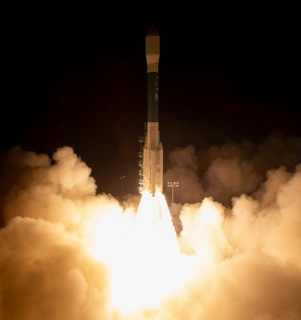 Embarking on its final launch before retirement, a Delta II rocket (carrying NASA's ICESat-2 spacecraft) lifts off from Vandenberg Air Force Base in California...on September 15, 2018.