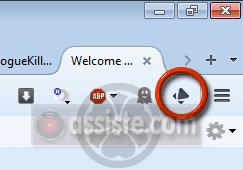 Lightbeam - Icone dans Firefox