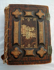 Holy Bible, dated 1885, antique gold lettering...