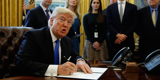 Trump walked out of an executive-order signing ceremony without signing the executive orders
