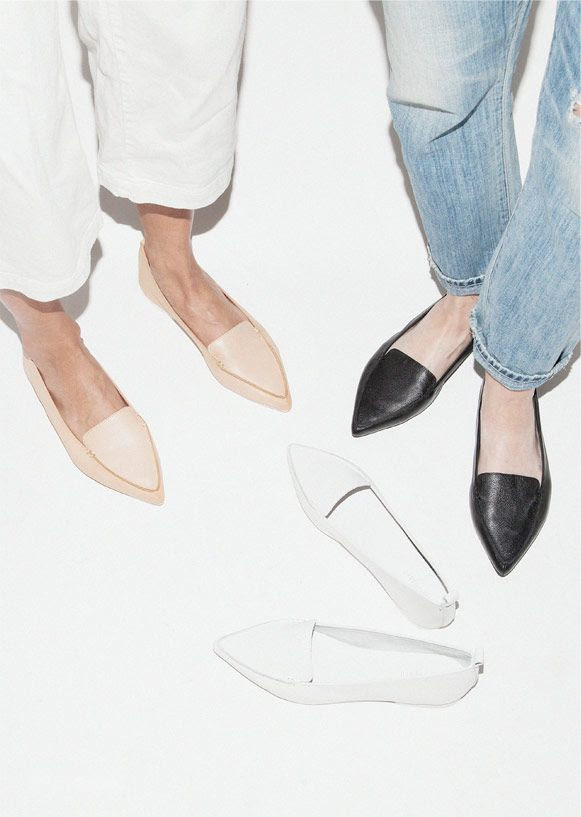 Le Fashion Blog Shoe Crush Jeffrey Campbell Vionnet Classic Pointy Toe Flats Loafers Budget Friendly Cropped White Jeans Need Supply Co.