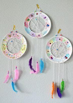 paper plate dream catchers dream catcher craft crafts