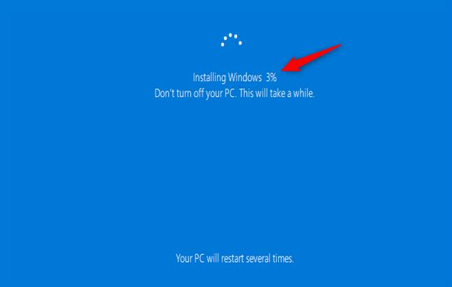 Instalación de Windows 10 cuando no se guardan archivos o configuraciones