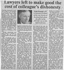 Lawyers left to make good the cost of colleague's dishonesty - Scotsman 1991
