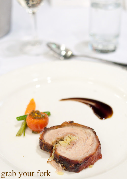 Crispy pork belly roulade at the Filipino Barbie