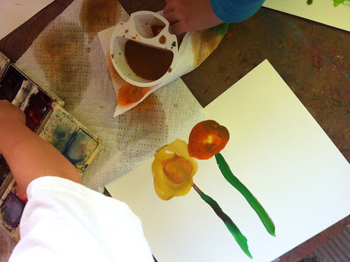 August 2011: Drawing with Kids - Strawflowers