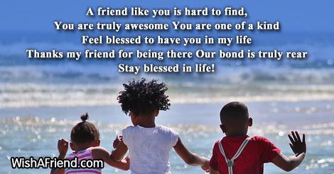 A Friend Like You Friendship Poem