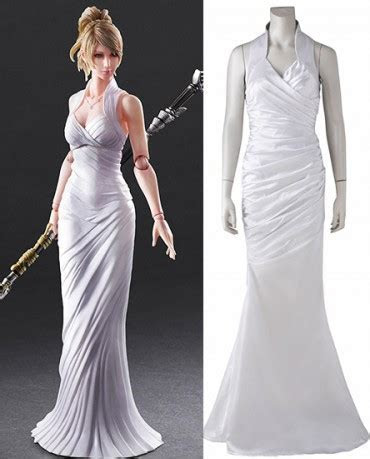Final Fantasy XV Lunafreya Nox Fleuret White Cosplay Costume