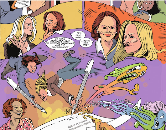 McKenna and Philpott battle toothpaste toxins in comic book