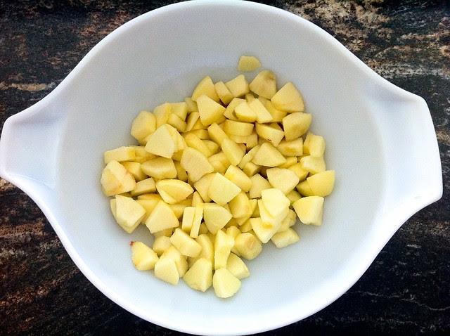 Diced Apple Tossed in Lemon Juice