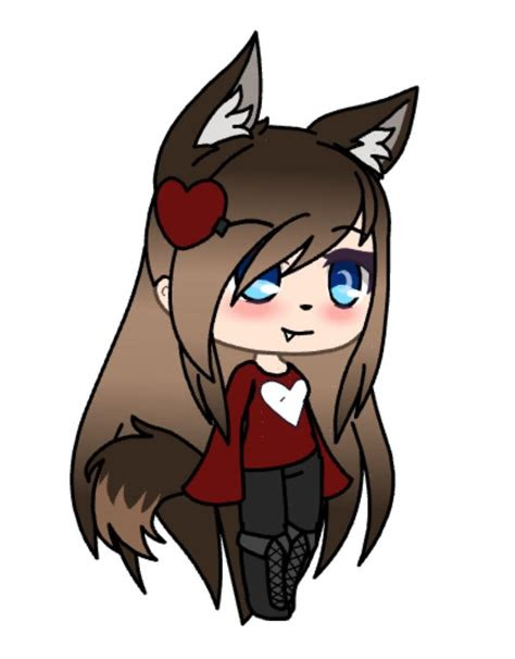 pin  abby  wolf  gacha life   anime wolf