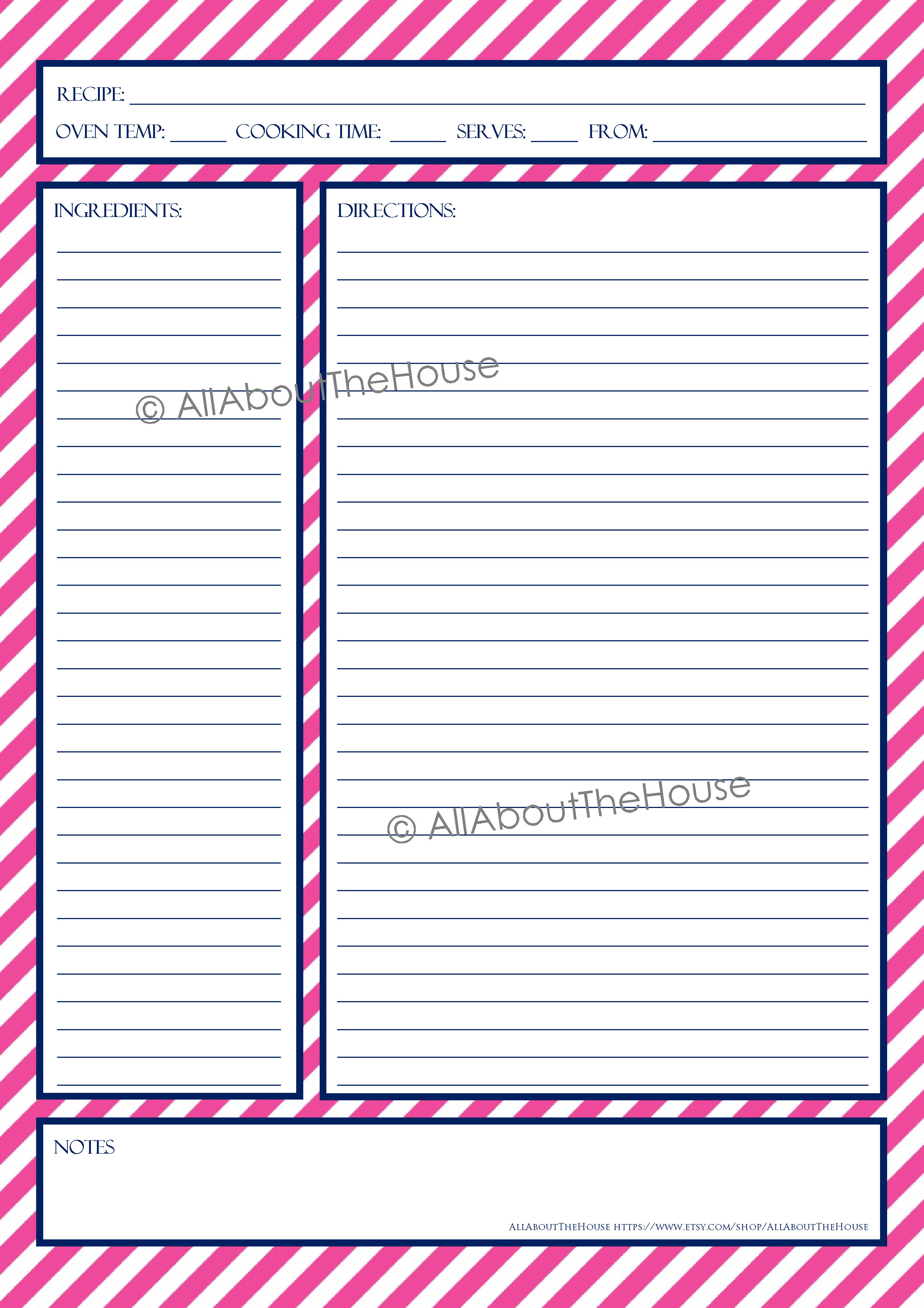 Printable Free Editable Recipe Templates For Microsoft Word In Full Page Recipe Template For Word