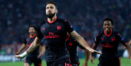 Europa League: Olivier Giroud strike helps Arsenal keep perfect campaign intact; Everton stunned by Lyon