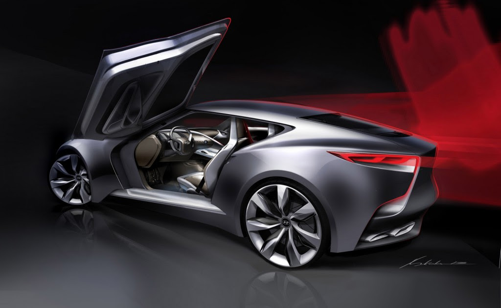 Next-Gen Hyundai Genesis Coupe Previewed By HND-9 Concept
