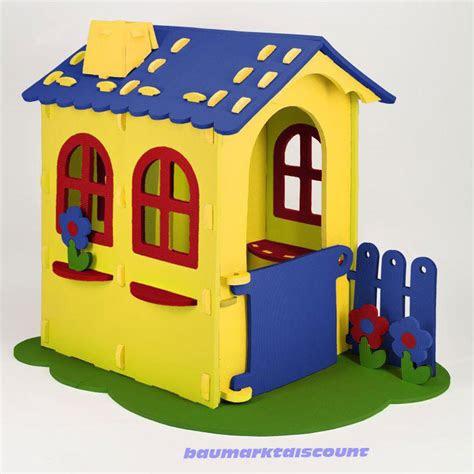 grosses spielhaus kinderhaus aus schaumstoff gelb