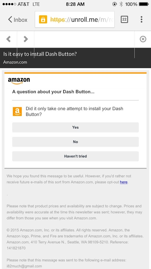 Design Dabbling — Amazon seems to be the king of soliciting...