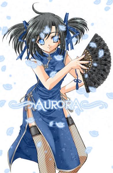 brown hair blue eyes anime girl
