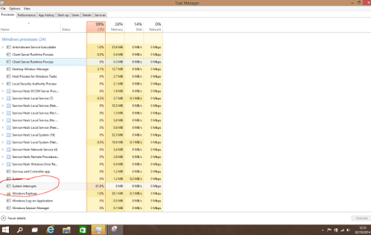 Windows 8 System Interrupts High CPU Usage - Solved