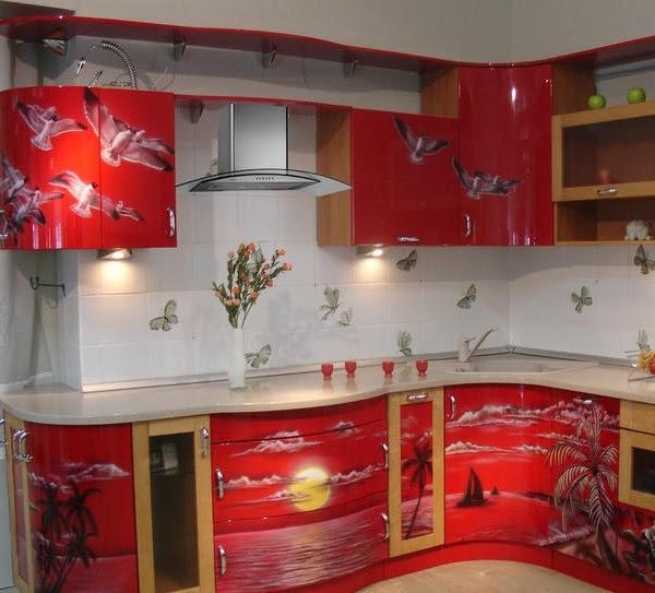 Угловая кухня с трапецией